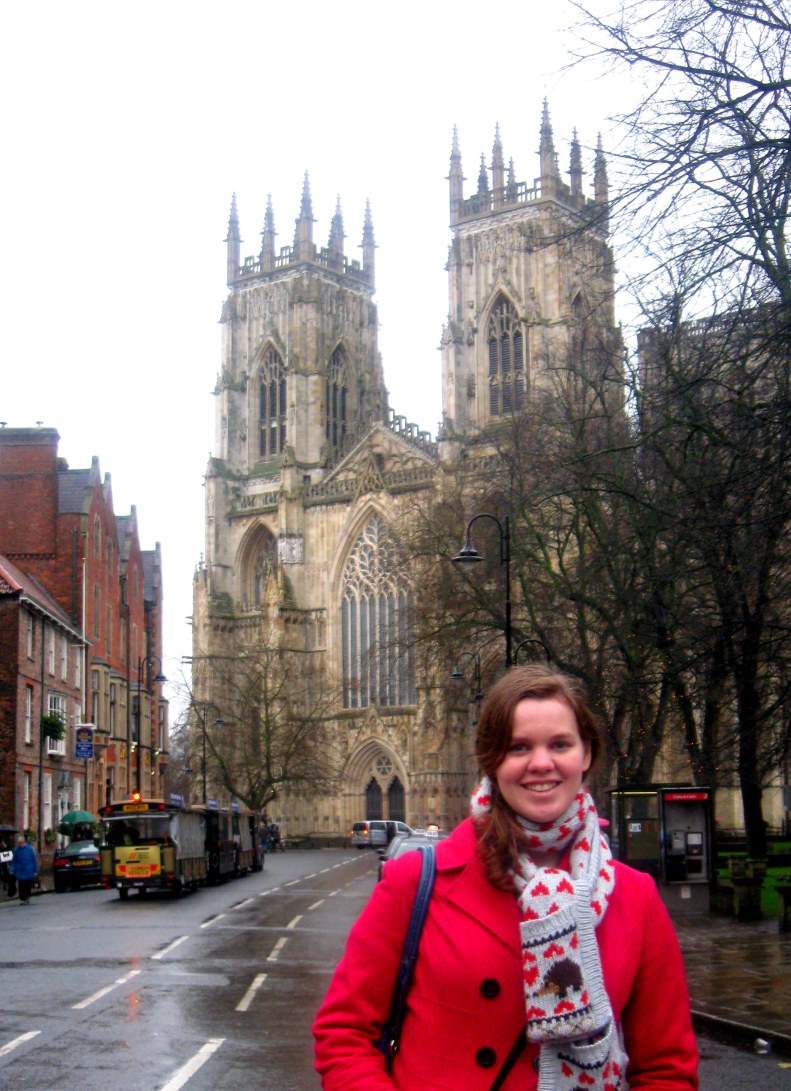 In front of York Cathedral.