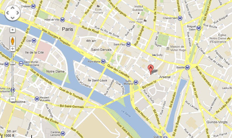 You really can't get much closer to the heart of Paris than where I was.