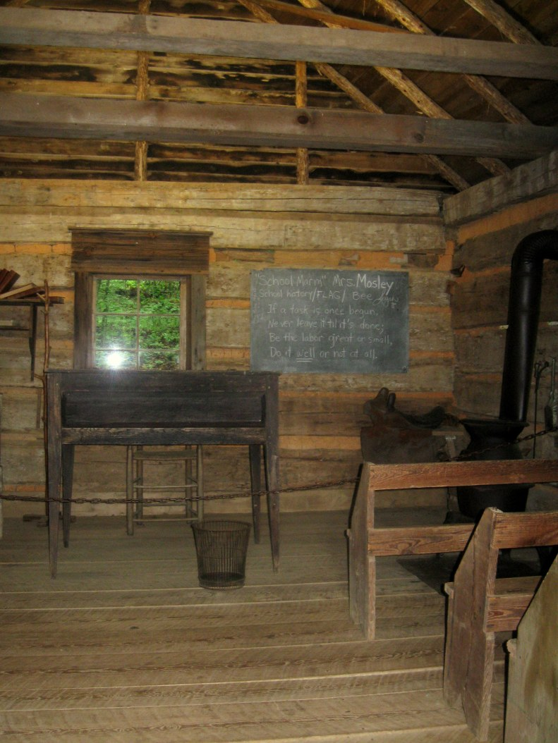 Schoolhouse interior.